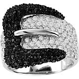 Kelly Herd Black Heart Buckle Ring