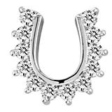 Kelly Herd Studded Horseshoe Pendant