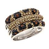 Kelly Herd Cheetah Collection Three Row Ring