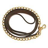 Collegiate Leather Lead with Chain