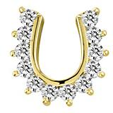 Kelly Herd Studded 14K Gold Horseshoe Pendant