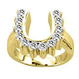 Kelly Herd Studded 14K Gold Horseshoe Ring