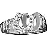 Kelly Herd 14K White Gold Double Horseshoe Ring
