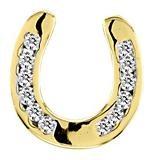 Kelly Herd 14K Gold Horseshoe Sparkle Pendant