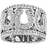 Kelly Herd 14K White Gold Multi Horseshoe Ring