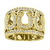 Kelly Herd 14K Gold Multi Horsehoe RIng