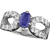 Kelly Herd 14K White Gold Sapphire Stone Ring
