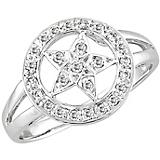 Kelly Herd 14K White Gold Star Ring