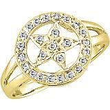 Kelly Herd 14K Gold Star Ring
