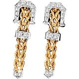 Kelly Herd 14K Gold Braided Rope Buckle Earrings