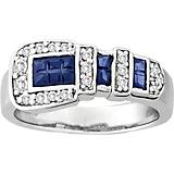 KH 14K White Gold Classic Buckle Ring