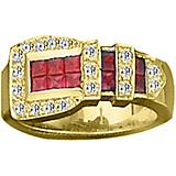 K Herd 14K Gold Classic Buckle Ring