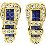 K Herd 14K Gold Classic Buckle Earrings