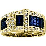 K Herd 14K Gold Beautiful Sapphire Buckle Ring