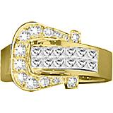 Kelly Herd 14K Gold Diamond Elegant Buckle Ring