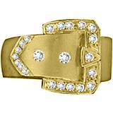 Kelly Herd 14K Gold Large Squared Buckle Ring