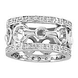 Kelly Herd 14K White Gold Diamond Bit Ring
