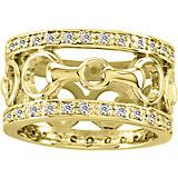 Kelly Herd 14K Gold Diamond Bit Ring