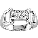 Kelly Herd 14K White Gold Bling Bit Ring