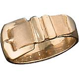 K Herd 14K Gold Satin Finish Buckle Ring