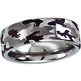 Kelly Herd Mens Sterling Silver Camo Ring
