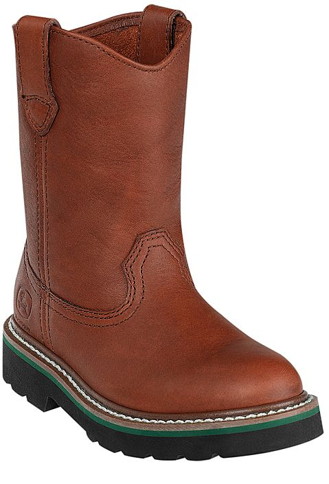 John Deere Youth Round Toe Pull-On Boots