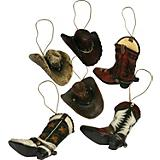 Cowboy Ornaments 6 Pack