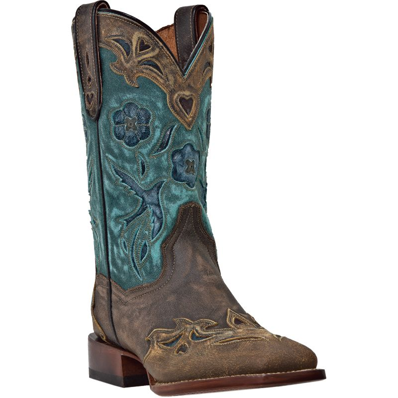 Dan Post Ladies Bluebird Square Toe Western Boots