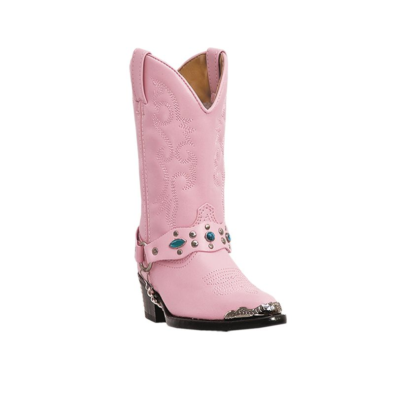 Laredo Childrens Little Concho Pink Boots