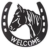 Horseshoe Welcome Wall Decor