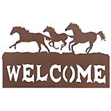 Welcome Sign 3 Horses