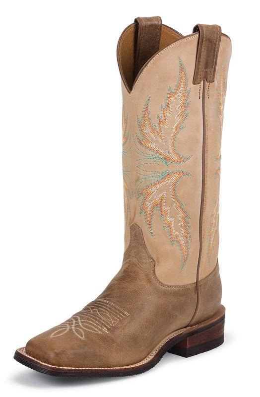 Justin Ladies Bent Rail 13in Mocha Boots