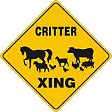 Critter Crossing Sign Barnyard