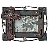 Lariat Cross Picture Frame