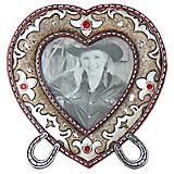 Leather Look Heart Picture Frame