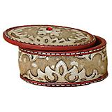 Leather Look Oval Trinket Box