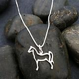 Sterling Silver Outlined Horse Necklace