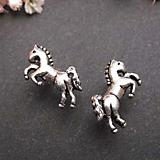 Sterling Silver Rearing Horse Stud Earrings