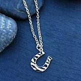 Rhinestone Zebra Horseshoe Necklace