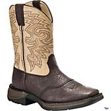 Durango Kids Full Grain Sq Toe 8in Boots