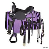 King Series Synthetic Zebra Saddle Package