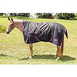 Saxon 1200D High Neck Turnout Sheet Black
