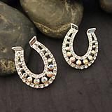 Rhinestone Large Horseshoe Earrings