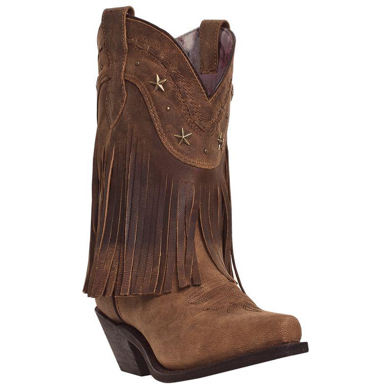 Dingo Ladies Hang Low Snip Toe 9in Brown Boots
