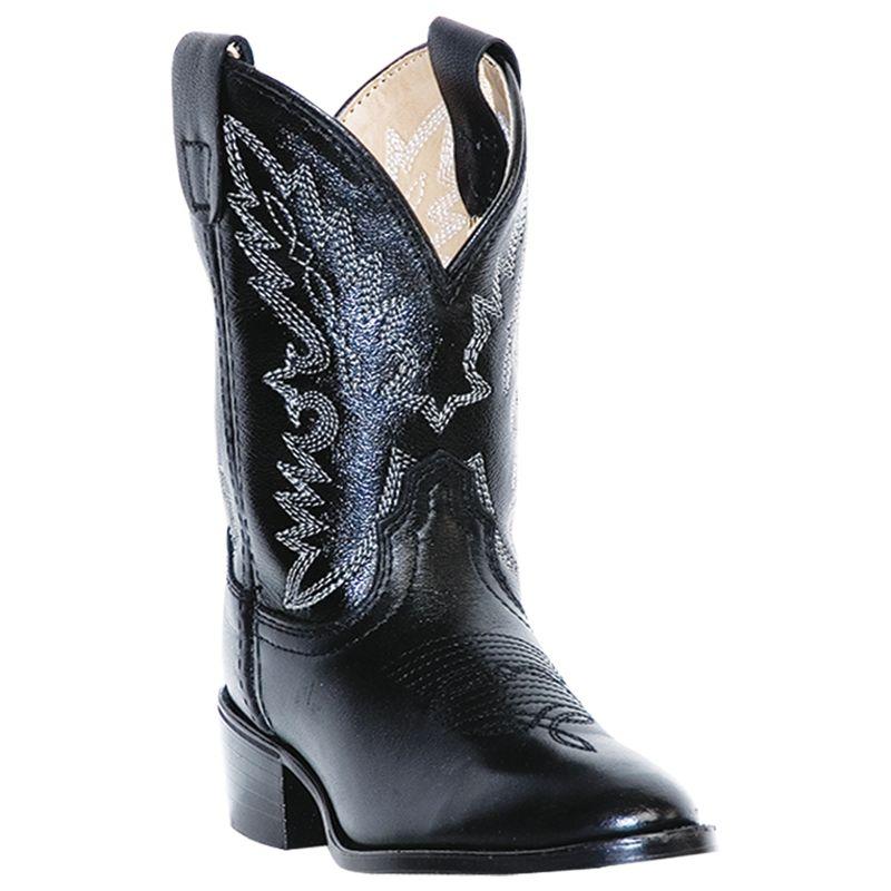 Dan Post Childrens Chaps Round Toe Black Boots