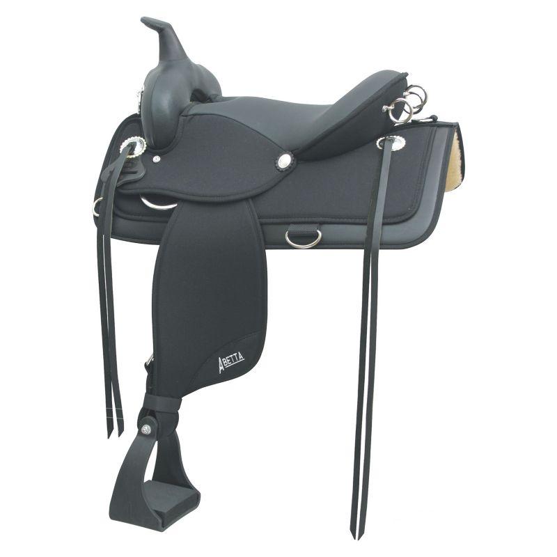 Abetta Brushpopper Trail Saddle 15in Black