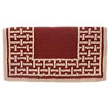 Tough-1 Basket Stamp Wool Saddle Blanket