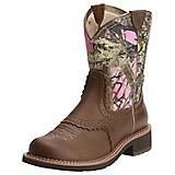Ariat Ladies Fatbaby Heritage Pink Camo Boots
