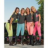 TuffRider Ladies Neon Ventilated S/S Zip