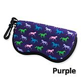 Tek Trek Horse Print Eyeglass Case w/Zipper